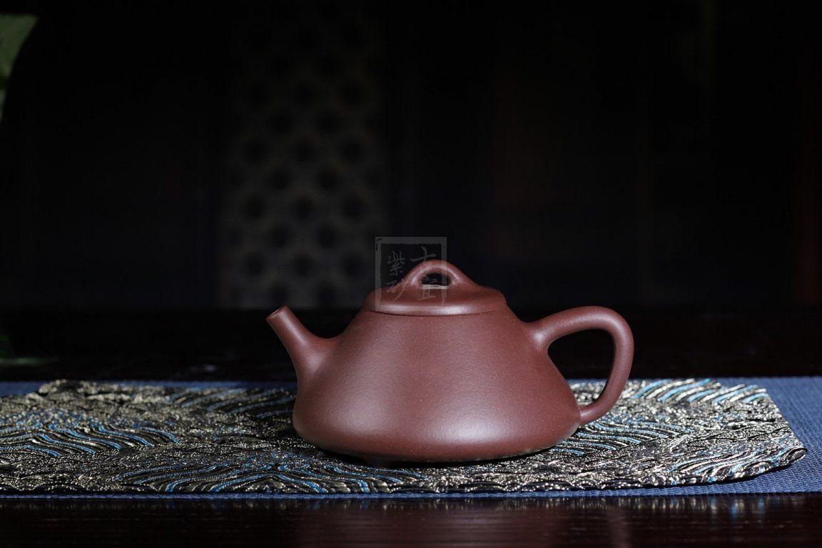 《子治石瓢》宜兴紫砂壶纯全手工正宗原矿紫泥石瓢茶壶