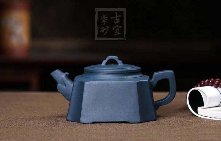 《四方龙尊》孟臣款极品天青泥纯手工宜兴紫砂壶功夫茶具家用茶壶