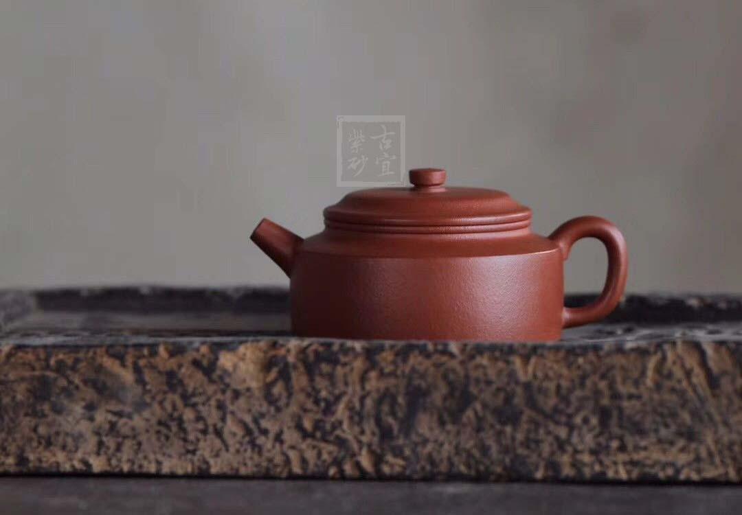 《德钟》宜兴紫砂壶名家全手工茶壶名师钱老师朱泥德钟