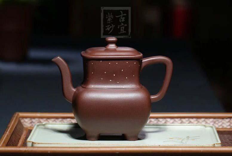 《清雅四方》宜兴实力派名家张伟军大师 紫泥紫砂壶全手工功夫泡茶壶