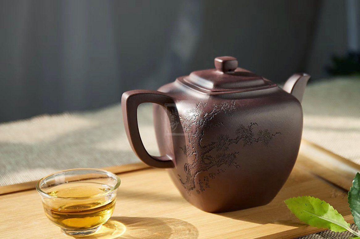 《松风煮茗》宜兴紫砂壶茶壶高级工艺美术师手工紫泥