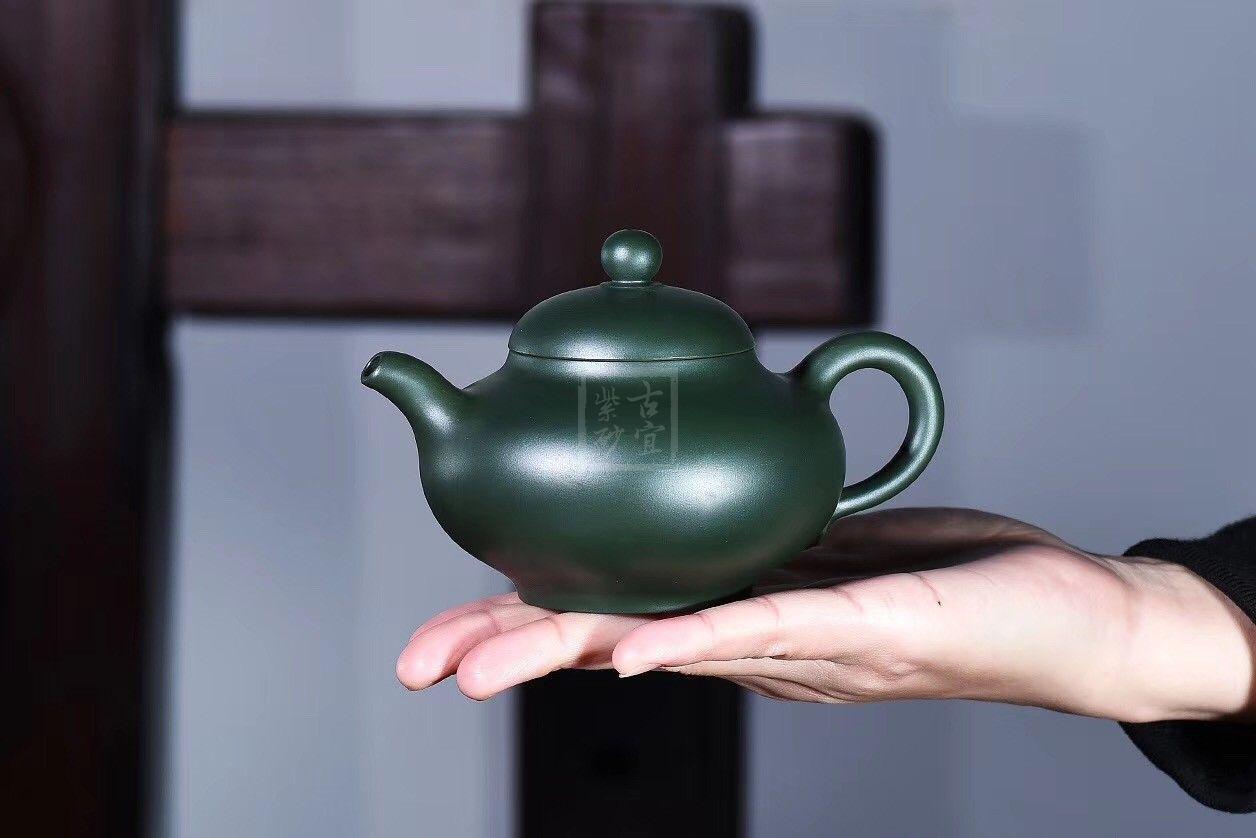《华韵》宜兴紫砂壶茶壶茶具实力派名家纯手工民国绿掇只
