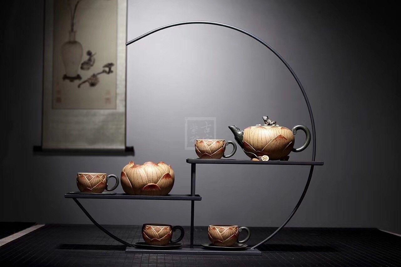 《青蛙莲子》宜兴紫砂壶全手工茶壶名师老师段泥仿生器