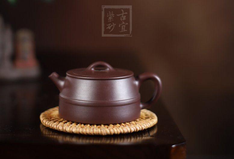 《明式井栏》紫泥明式井栏宜兴紫砂壶工艺美术师手工泡茶壶茶具