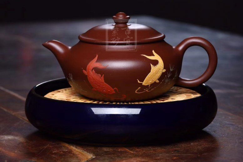 《年年有余》宜兴紫砂壶实力派老师手工茶壶茶具黄龙山大红袍