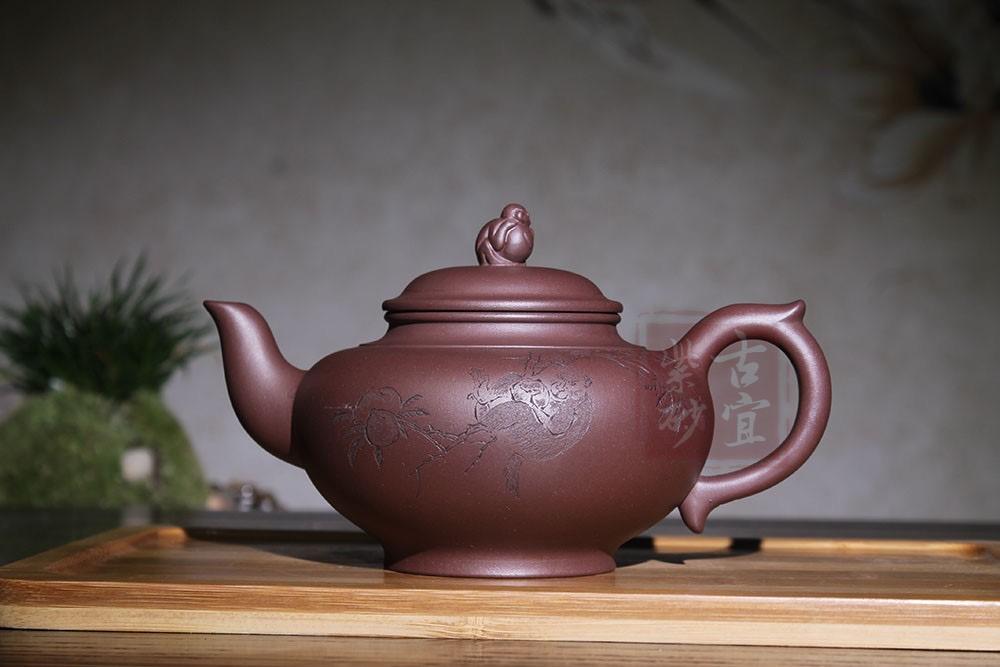 《灵猴献瑞》紫砂壶宜兴纯全手工名家功夫泡茶壶家用正宗紫砂壶茶具茶壶套装