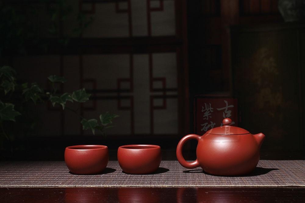 《西施》宜兴紫砂壶纯全手工家用套装名家大红袍西施茶壶具