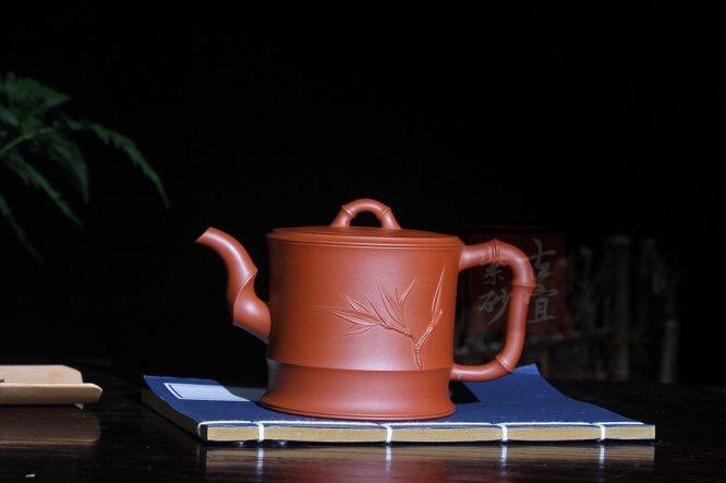 《一品竹段》宜兴名家纯全手工原矿清水泥一品竹段家用功夫泡茶壶茶壶茶具