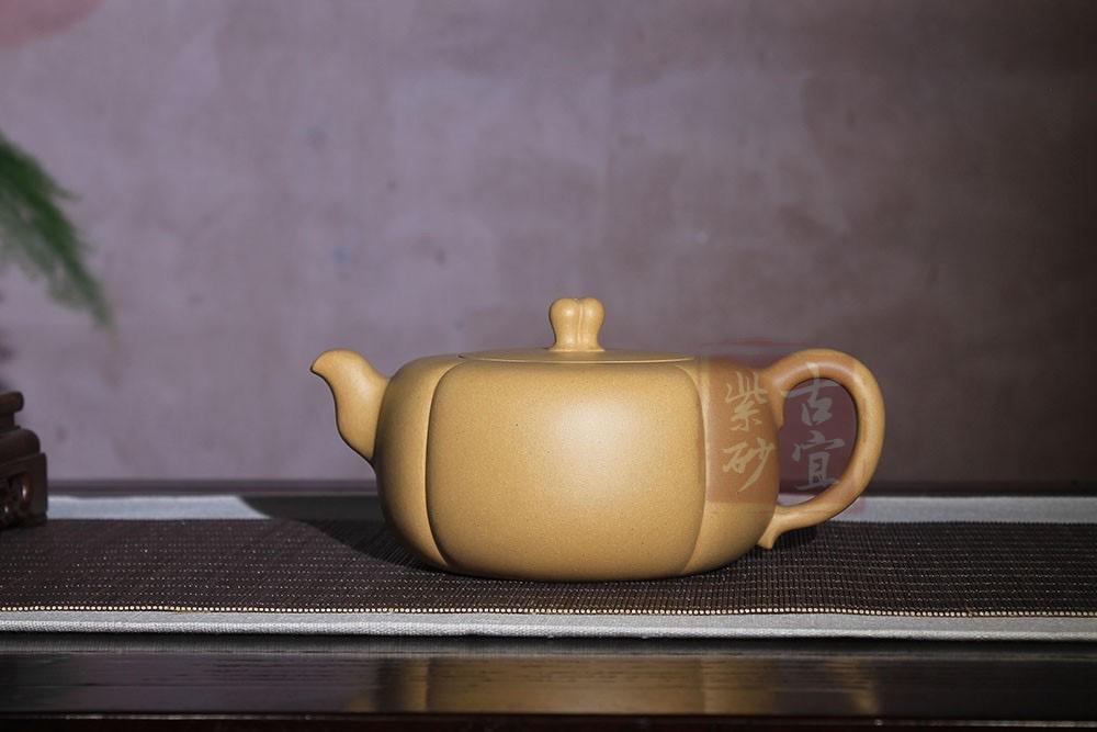 《硕果》宜兴名家全手工紫砂壶国高工杨瑶芬原矿黄金段泥泡茶壶硕果