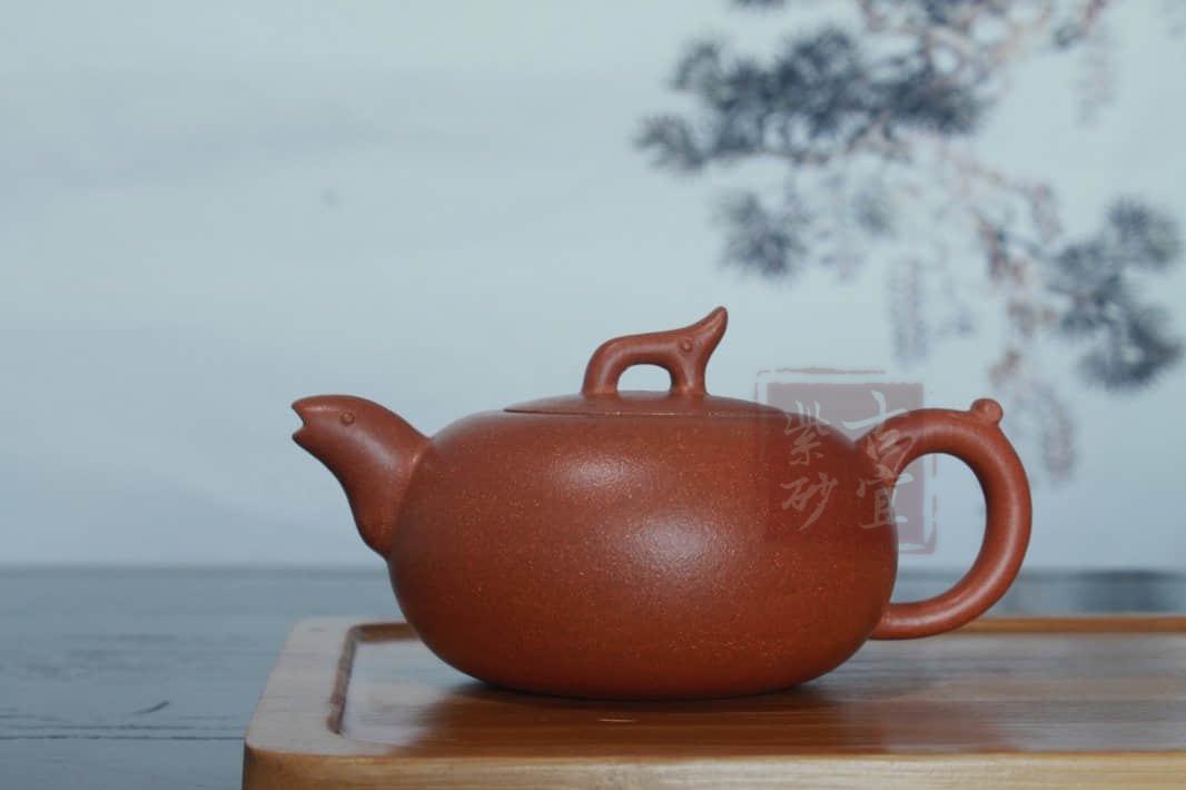 《仰望》宜兴紫砂壶纯全手工原矿降坡泥150cc小品泡茶壶具