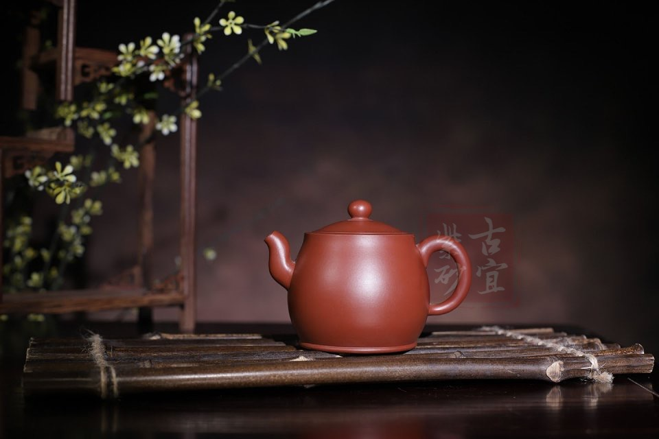 《圆桶》宜兴紫砂壶纯全手工原矿大红袍小容量泡功夫茶壶